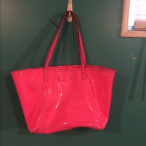 Kate Space Hot Pink Tote Purse Bag
